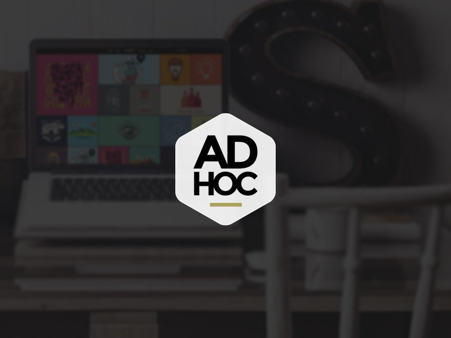 Ad Hoc Portfolio WordPress portfolio theme