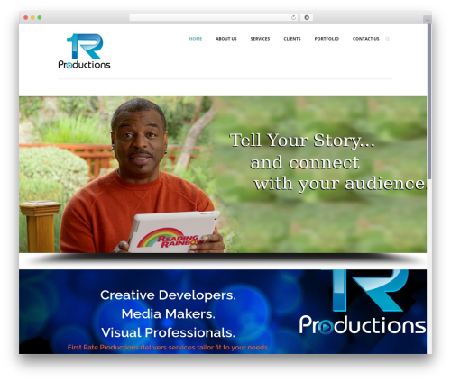 Agent WordPress page template - firstrateproductions.com