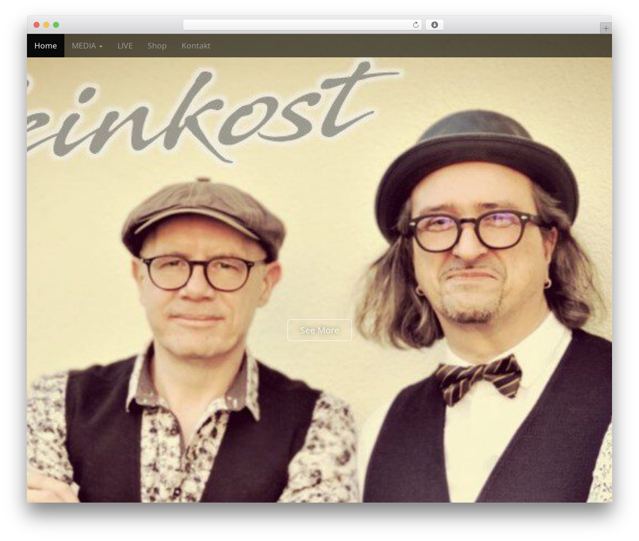 Arcade Basic free WordPress theme - feinkost-live.de