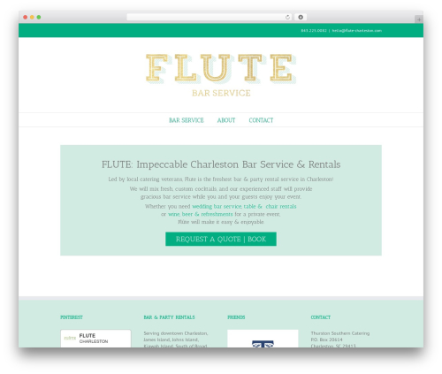Avada theme WordPress - flute-charleston.com