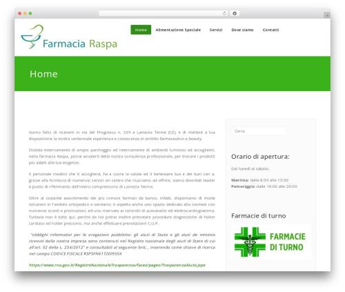 Best WordPress template Appointment - farmaciaraspa.com