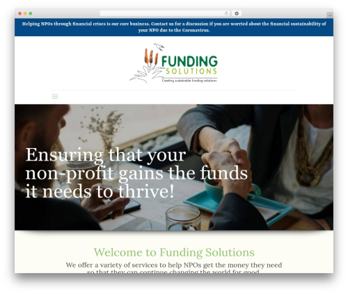 Best WordPress template Betheme - fundingsolutions.co.za