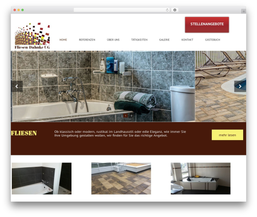 Best WordPress theme BootstrapWP - fliesen-dahnke.de