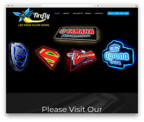 Best WordPress theme FireFly - fireflyedgeglowsigns.com