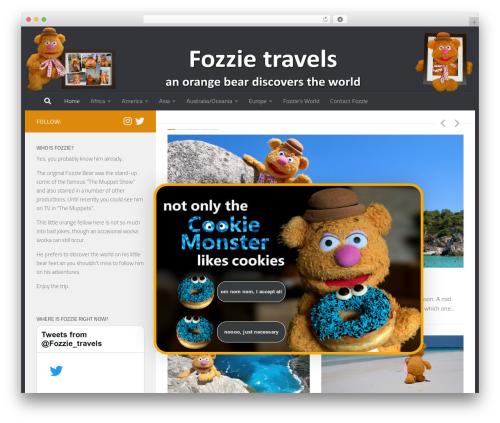 Best WordPress theme Hueman - fozzie-travels.com