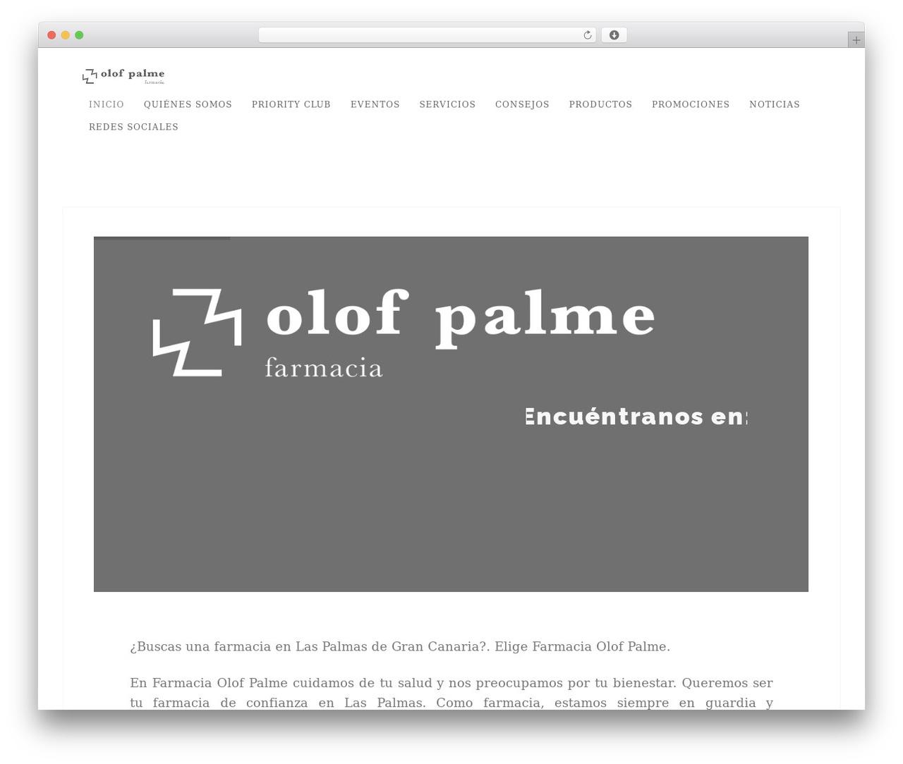 Best WordPress theme Story - farmaciaolofpalme.com