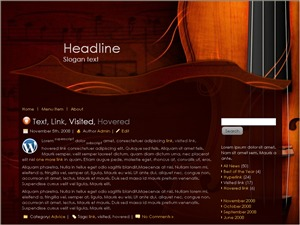 Best WordPress theme Violin Classes
