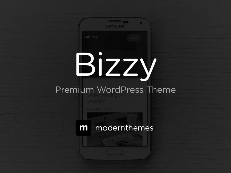 bizzy company WordPress theme