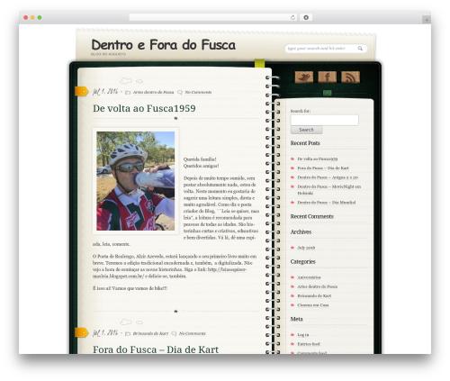 Diary/Notebook WordPress blog theme - fusca1959.com