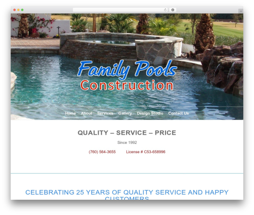 Enfold best WordPress template - familypoolsconstruction.com