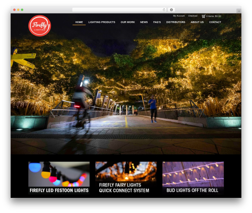 FireFly WordPress theme - fireflylighting.com.au