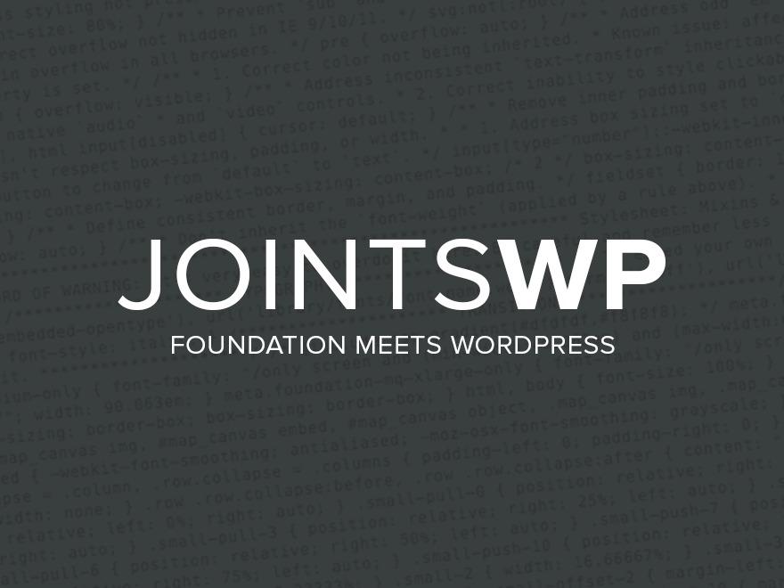 JointsWP premium WordPress theme