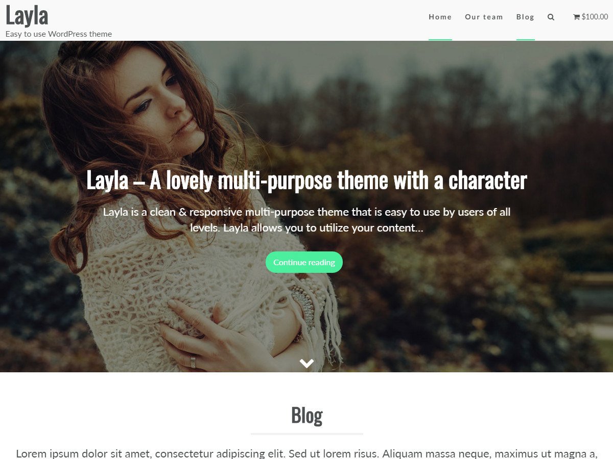 Layla WordPress ecommerce theme
