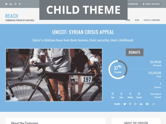 Reach Child Theme WordPress blog theme