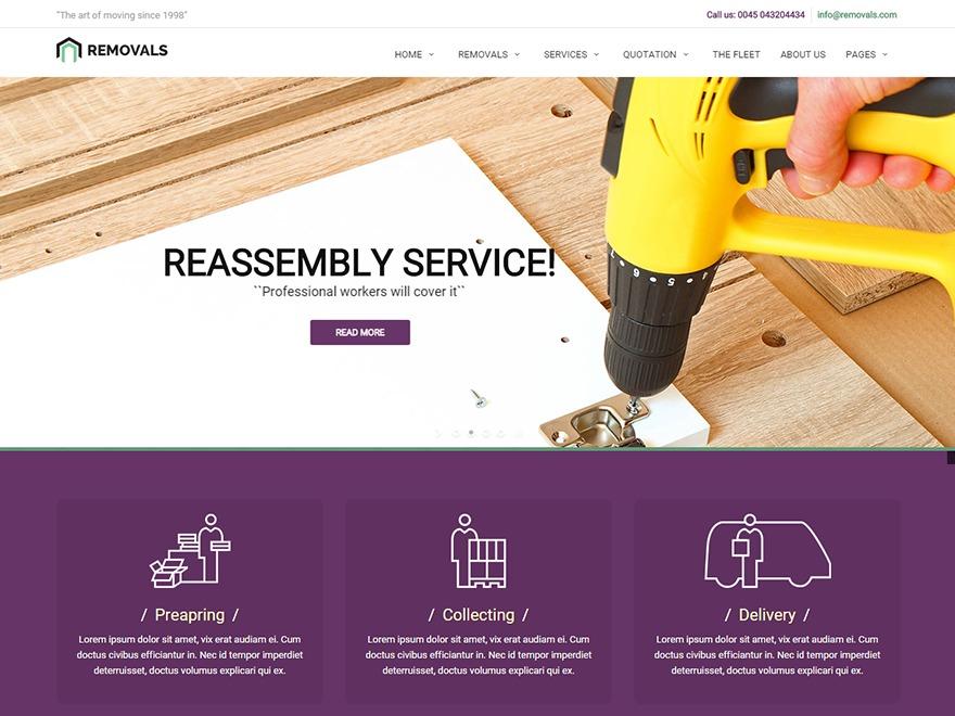 removals WordPress magazine theme