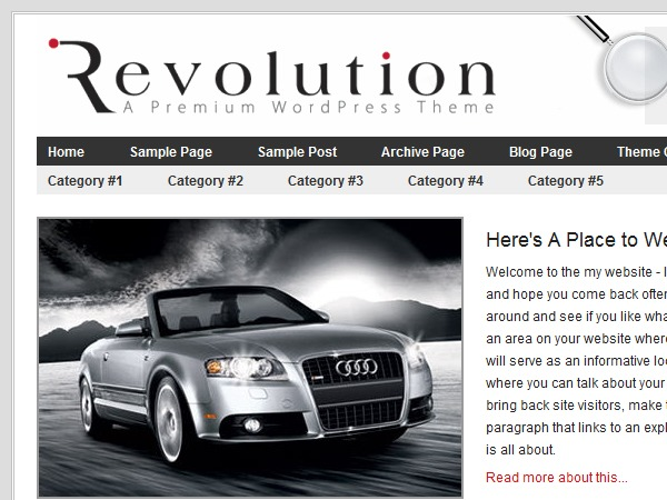 Revolution premium WordPress theme