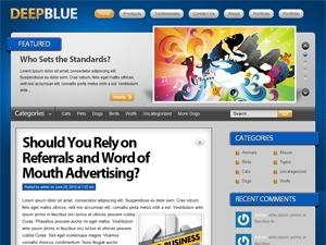 Template WordPress Deep Blue