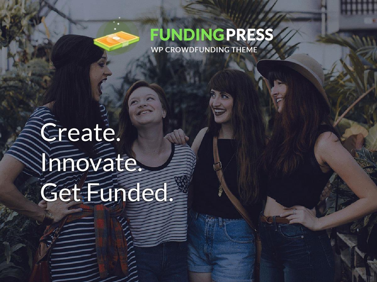 Template WordPress Fundingpress