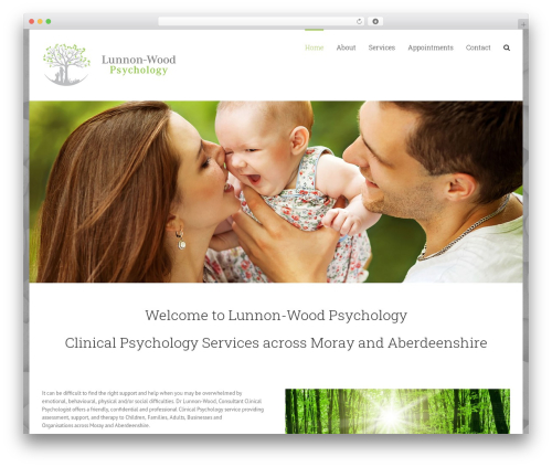 Theme WordPress Avada - familypsych.co.uk