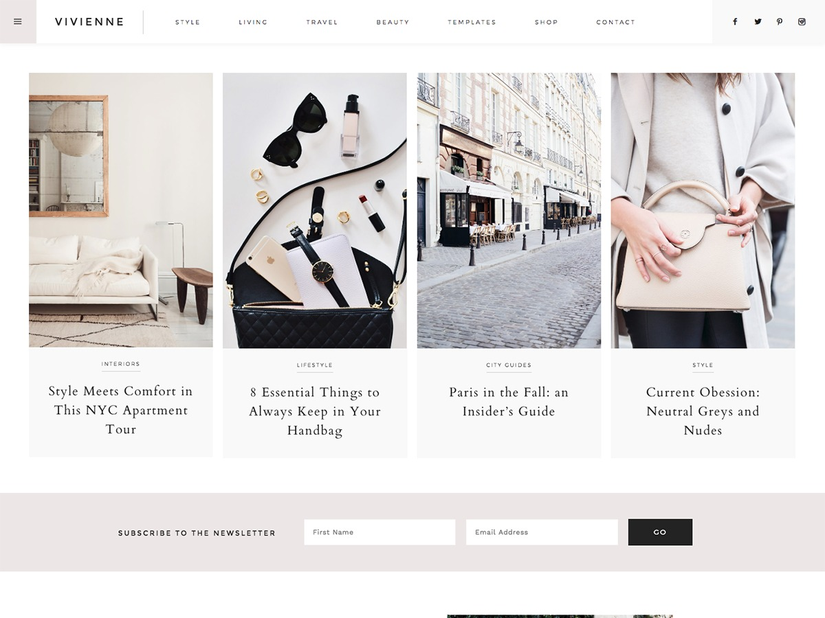 Vivienne WordPress theme