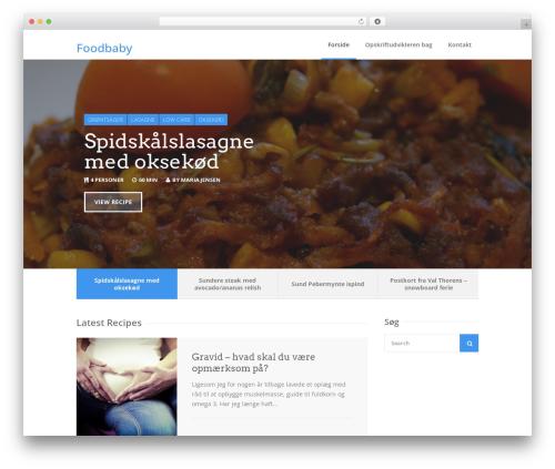 WordPress theme Chow - foodbaby.dk