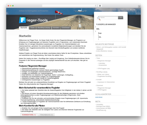 WordPress theme Fusion - flieger-tools.de