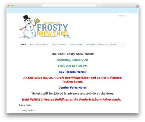 WordPress theme WP-PinUp - frostybrewthru.com