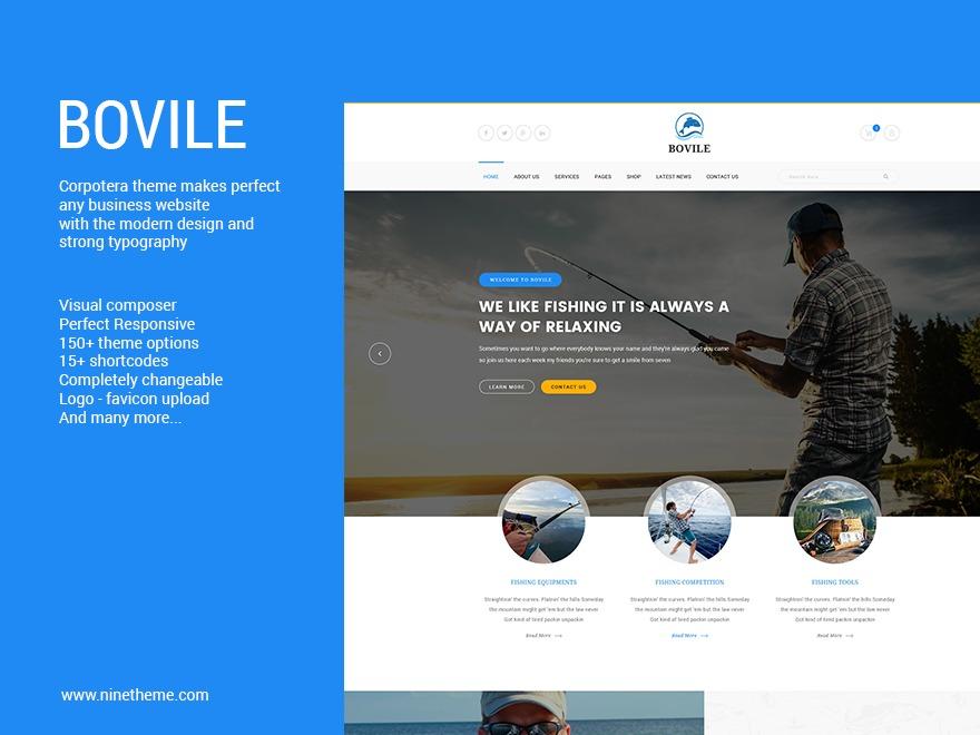 WordPress website template Bovile