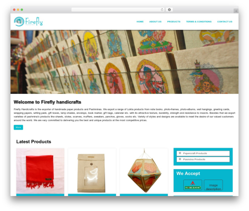WordPress website template FireFly - fireflyhandicrafts.com