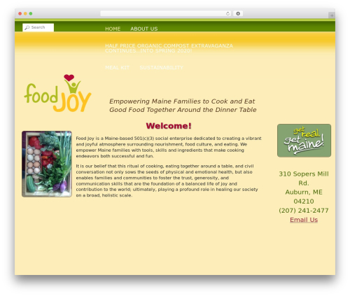 WordPress website template Food Joy / South Auburn Organic Farm - food-joy.org