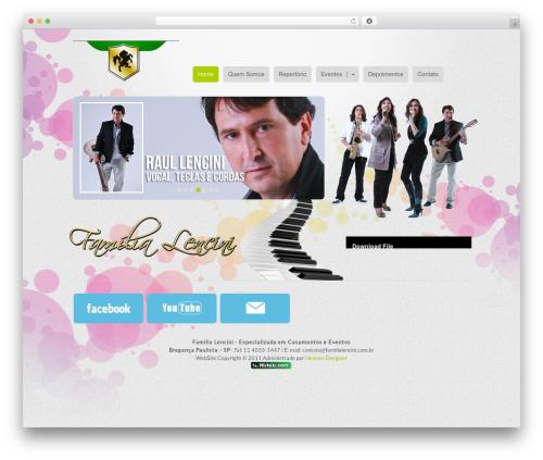 WordPress website template MiCasa - familialencini.com.br