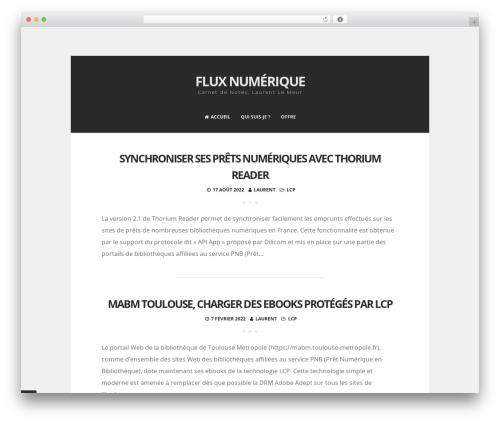 Zenzero free WordPress theme - fluxnumerique.fr