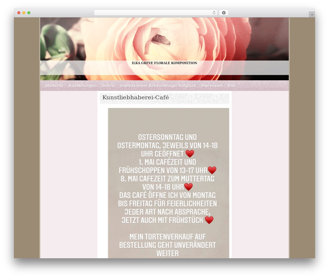Best WordPress template Ranunculus - kunstliebhaberei.de