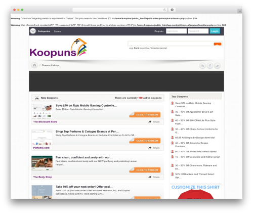 Clipper WordPress page template - koopuns.com