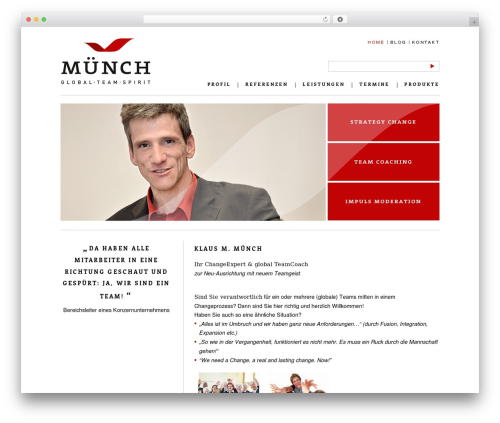 Klaus Michael Münch WordPress store theme - klaus-muench.de