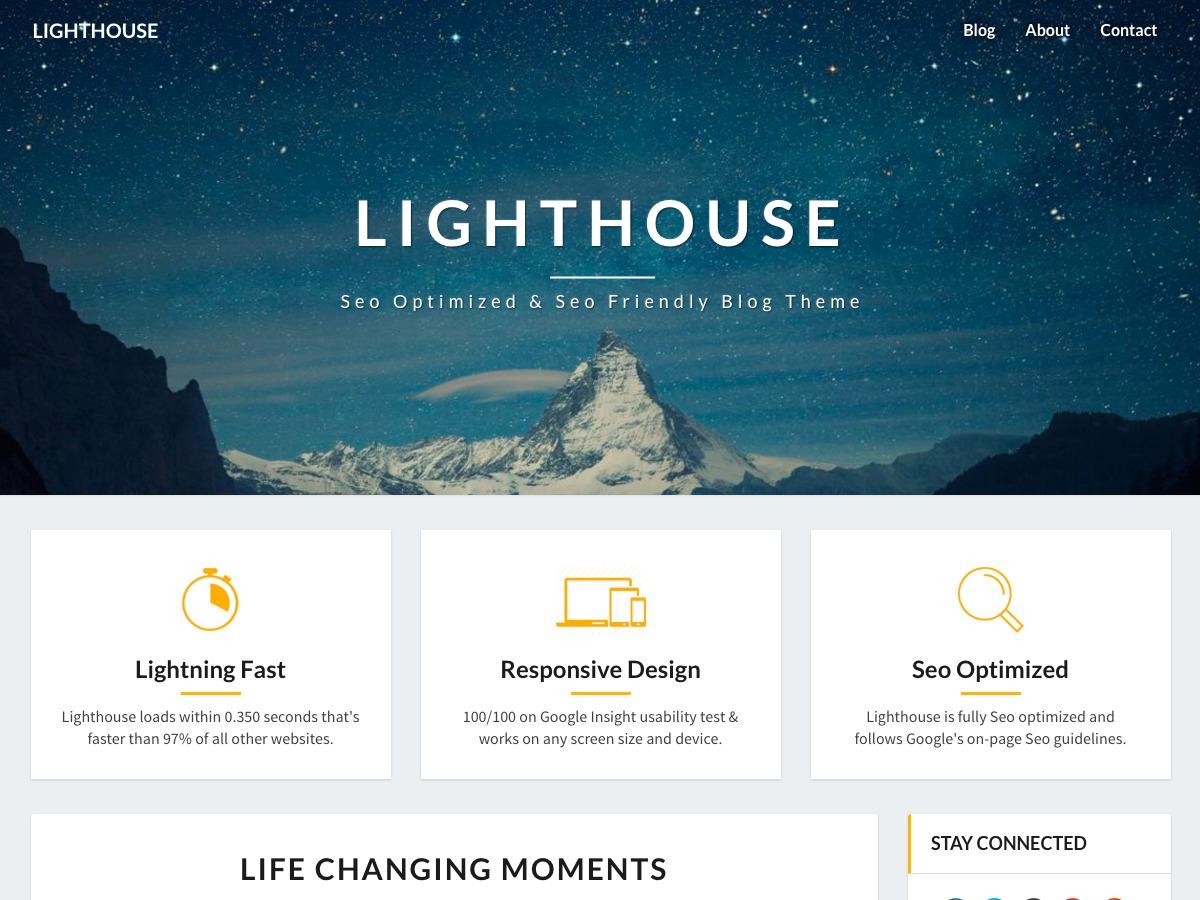 Lighthouse WordPress news theme