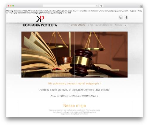 Prestige Ultimate Wordpress Theme WordPress theme - kompaniaprotekta.pl