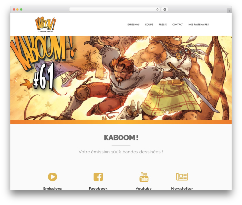 WordPress template Xone - kaboombd.tv