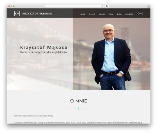 WordPress theme Revelance (Share On Theme123.Net) - krzysztofmakosa.com