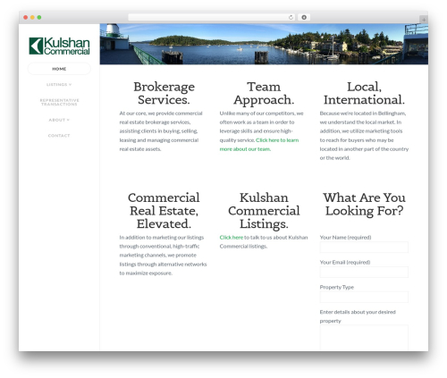 WordPress theme X - kulshancommercial.com