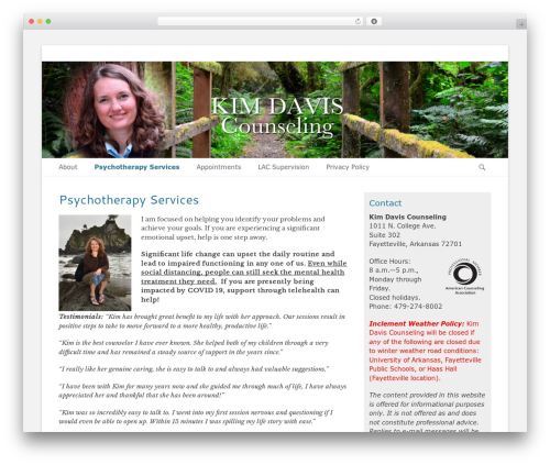 WordPress website template Catch Base Pro - kimdaviscounseling.com