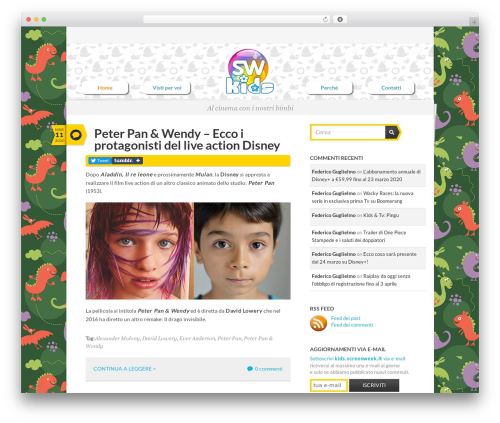 Writer Child WP theme - kids.screenweek.it