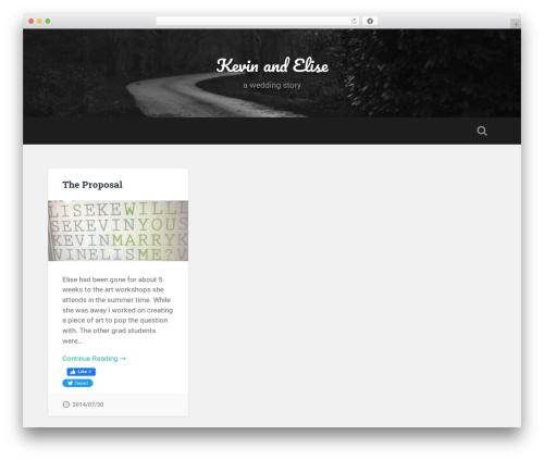 Baskerville free WordPress theme - kevinandelise.com