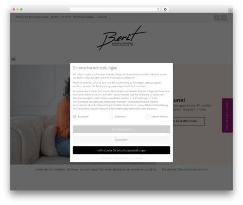 Betheme massage WordPress theme - kosmetikpraxis-berit.de