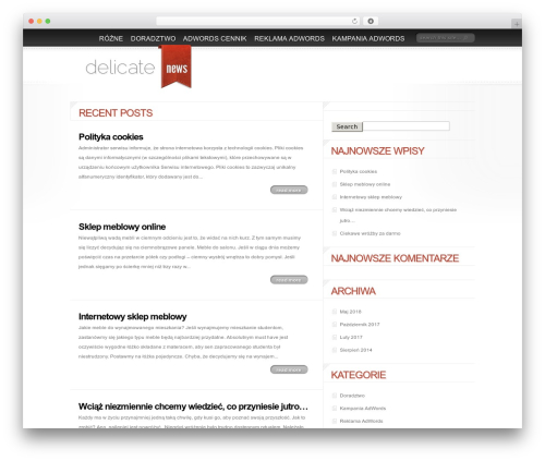 Delicate News WordPress website template - kampaniaonline.pl