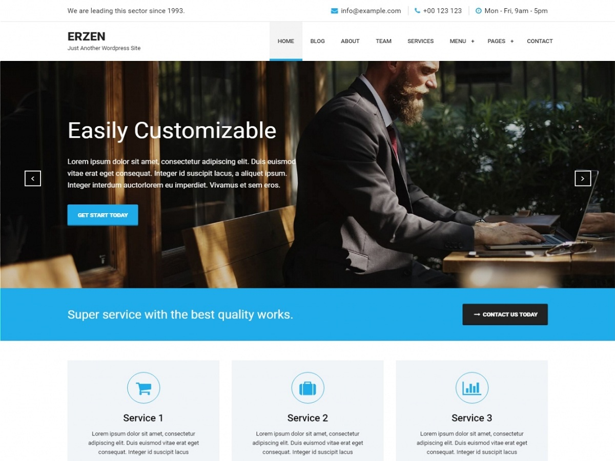 Erzen best WooCommerce theme