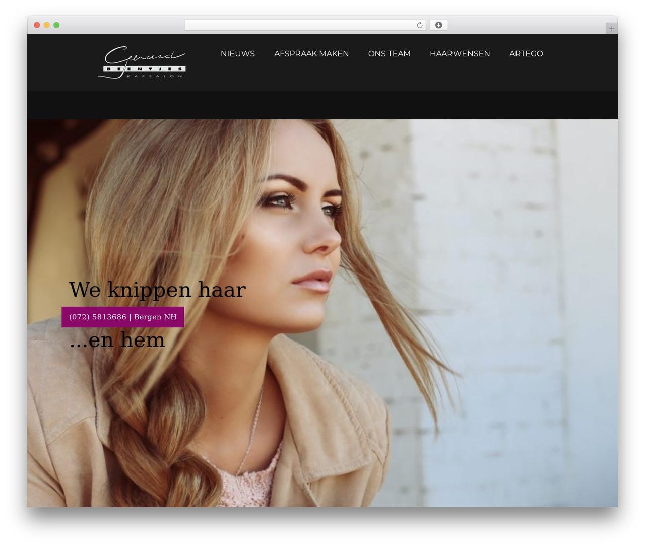 Focal WordPress theme design - kapsalongerardbeentjes.nl