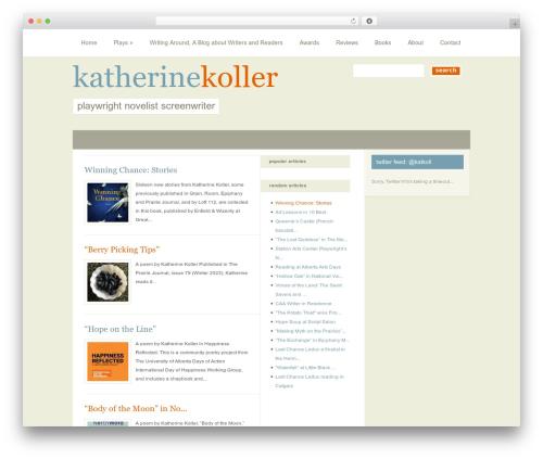 PureType theme WordPress - katherinekoller.ca