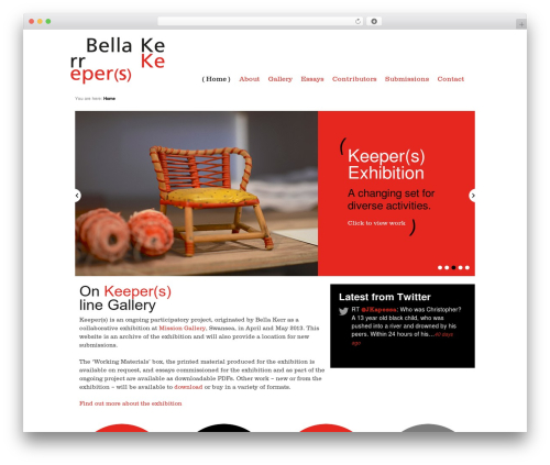 Responsive free website theme - keepers-exhibition.com