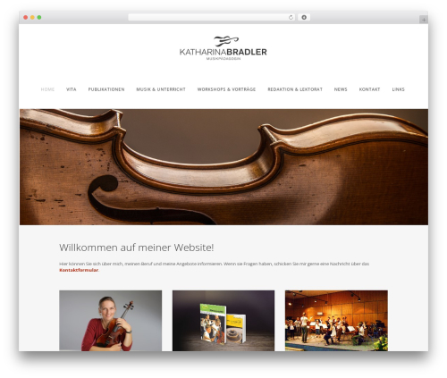 WP theme Bridge - katharinabradler.de